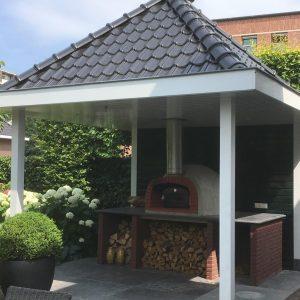 terrasoverkapping met buitenkeuken