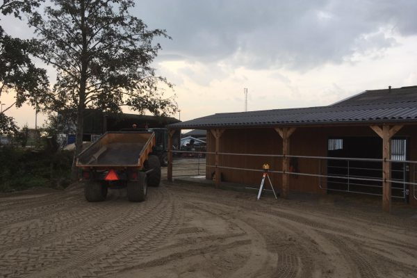Paarden paddock aanleg Nieuw-vennep