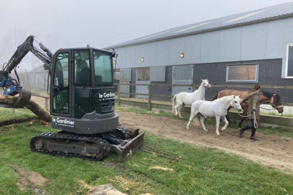 Aanleg paarden cross terrein